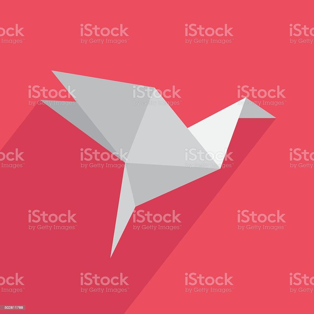 Icon origami flat vector art illustration