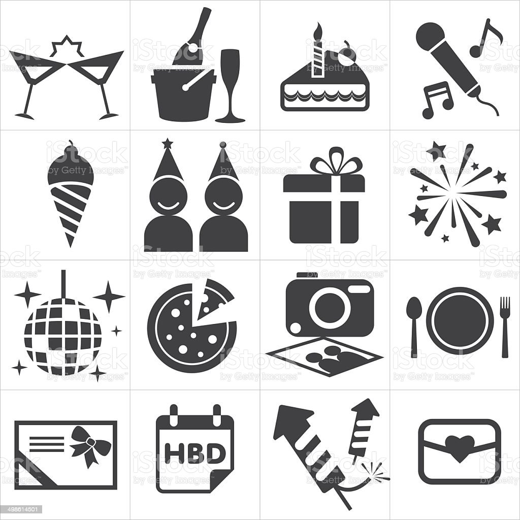 icon party celebrate vector art illustration