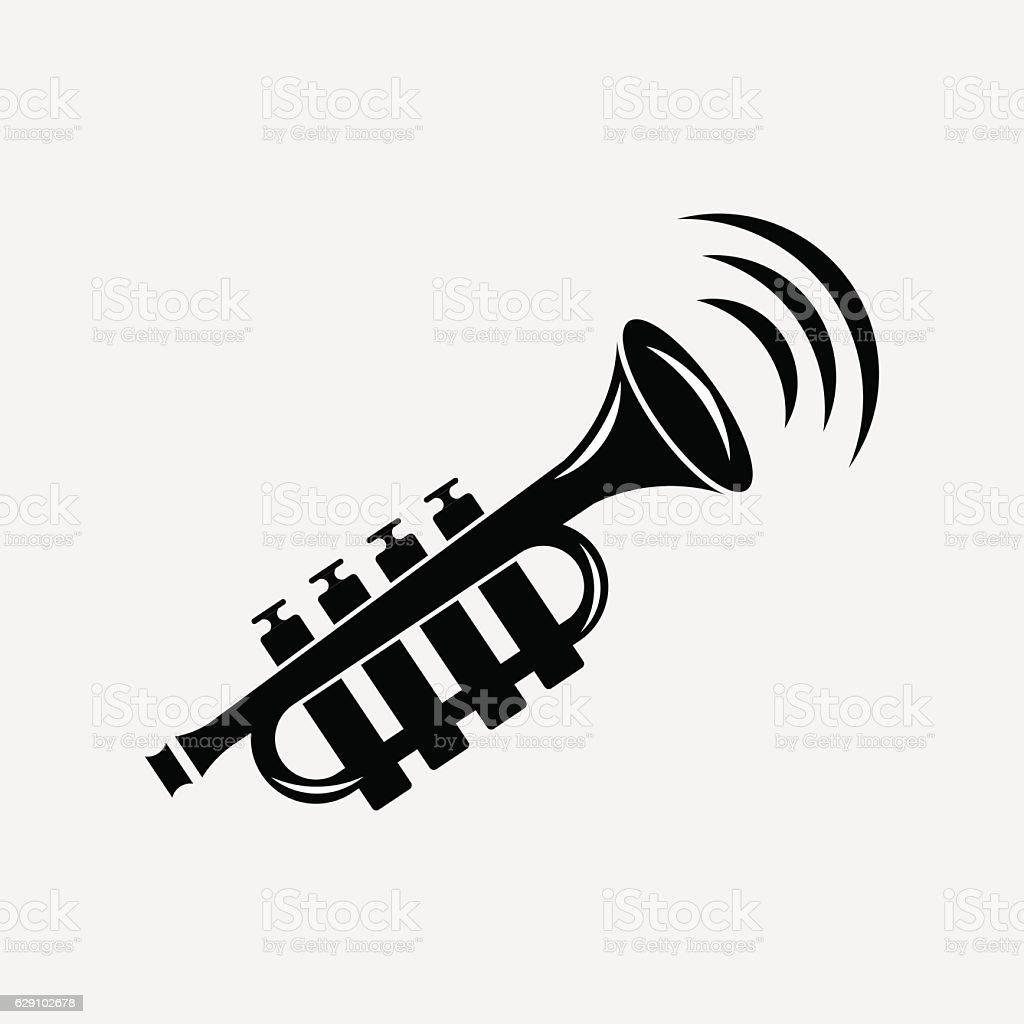 icon pipe, music, sound vector art illustration