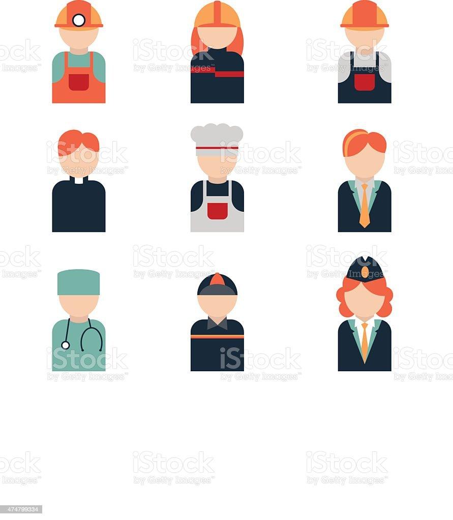 icon profession vector art illustration