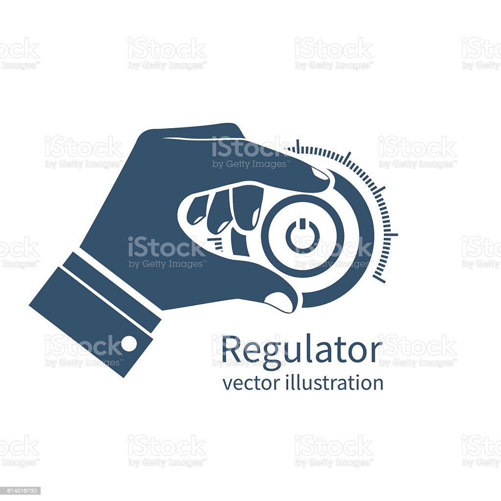 Icon regulator, controller vector art illustration