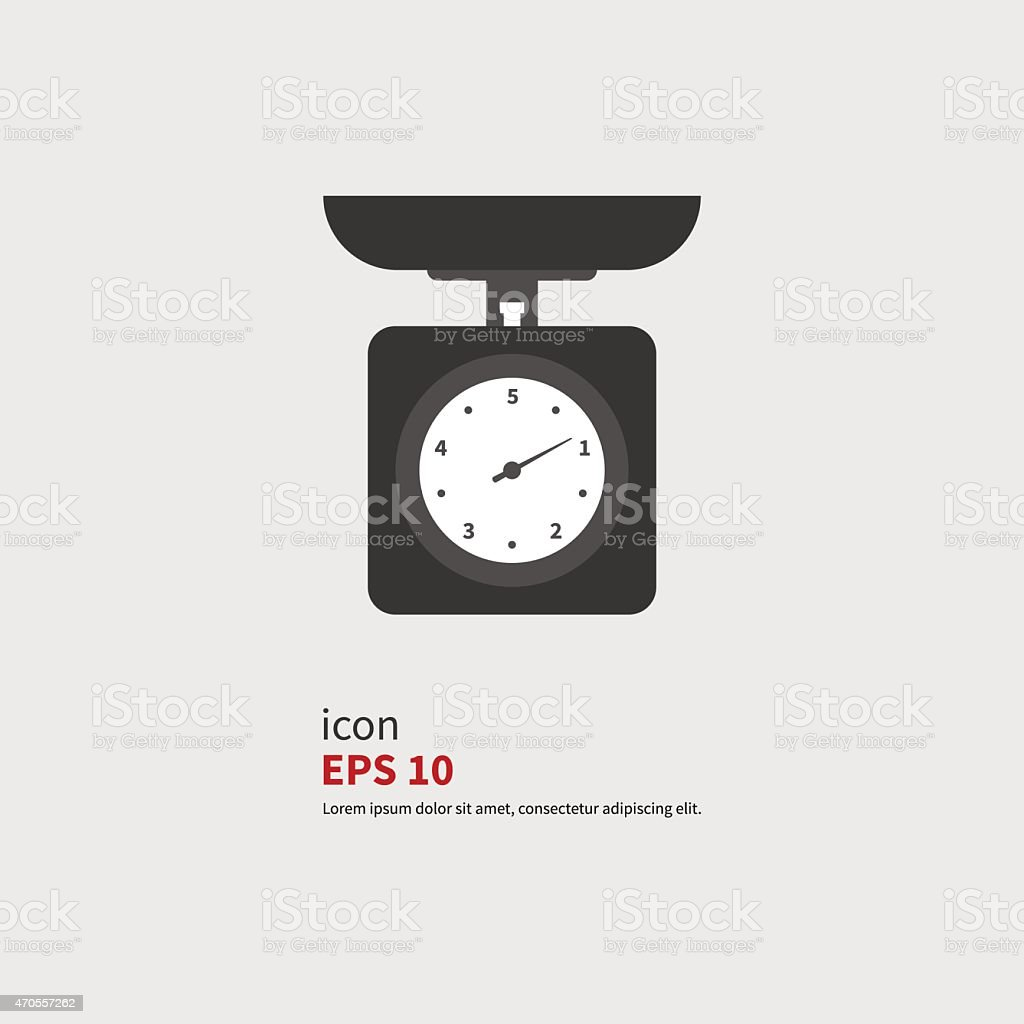 Icon scale vector art illustration