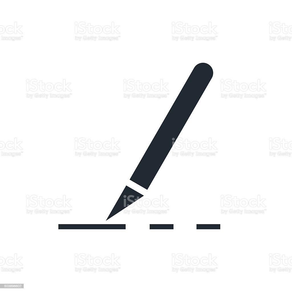 icon scalpel vector art illustration