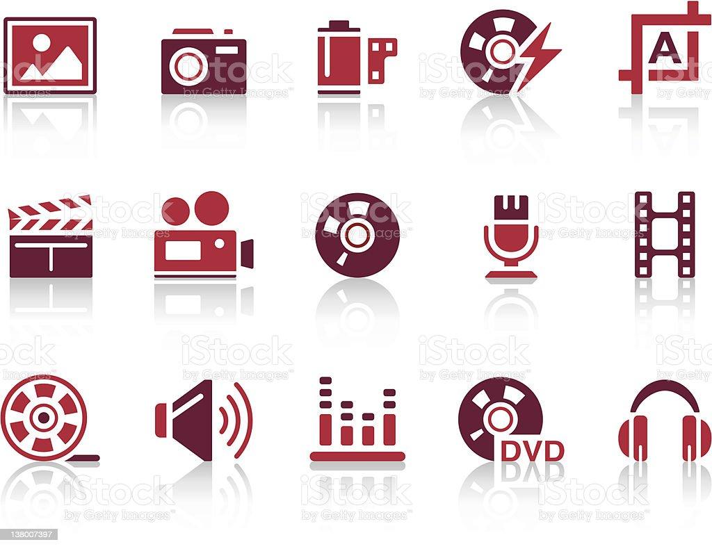 'REPRO' Icon Series - Audio/Video/Photo royalty-free stock vector art