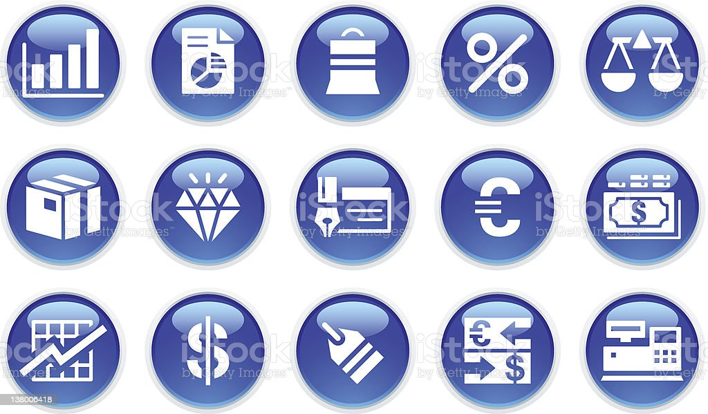 'BLUCO' Icon Series - Business/Financial royalty-free stock vector art