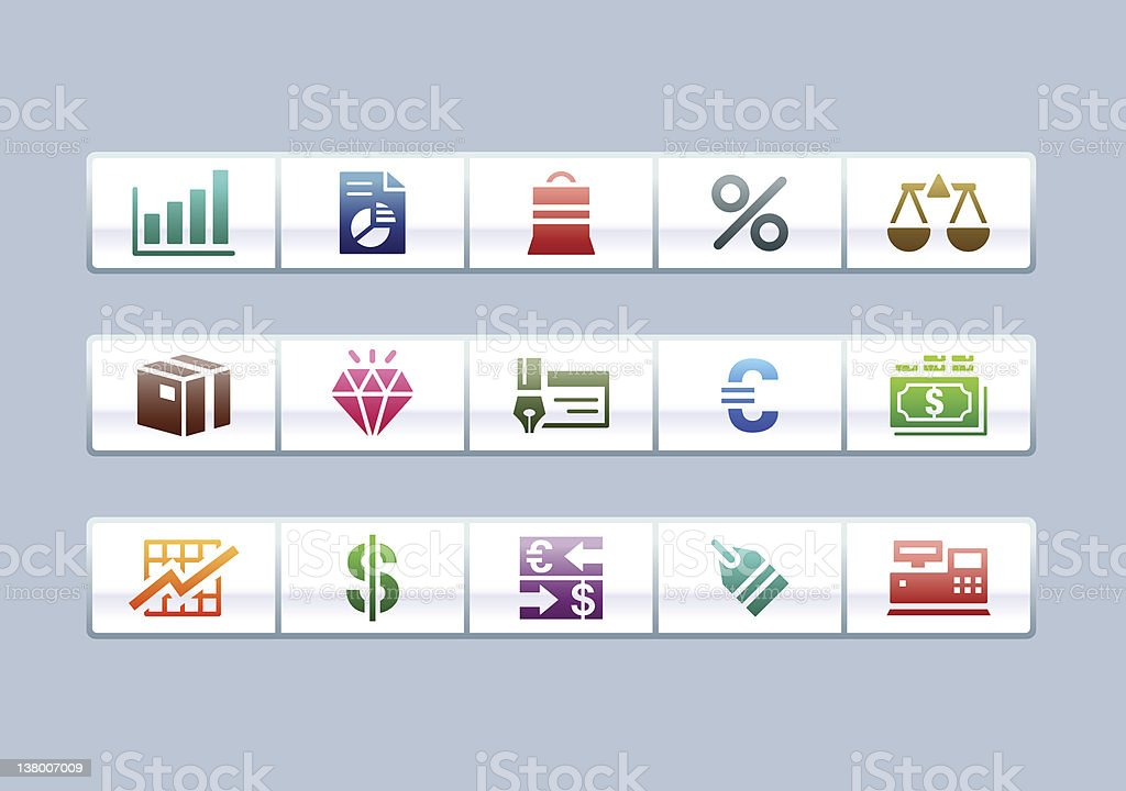 'PARCO' Icon Series - Business/Financial royalty-free stock vector art
