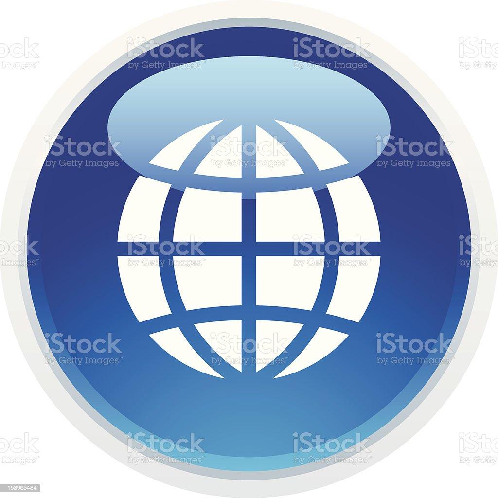 'BLUCO' Icon Series   GLobe royalty-free stock vector art