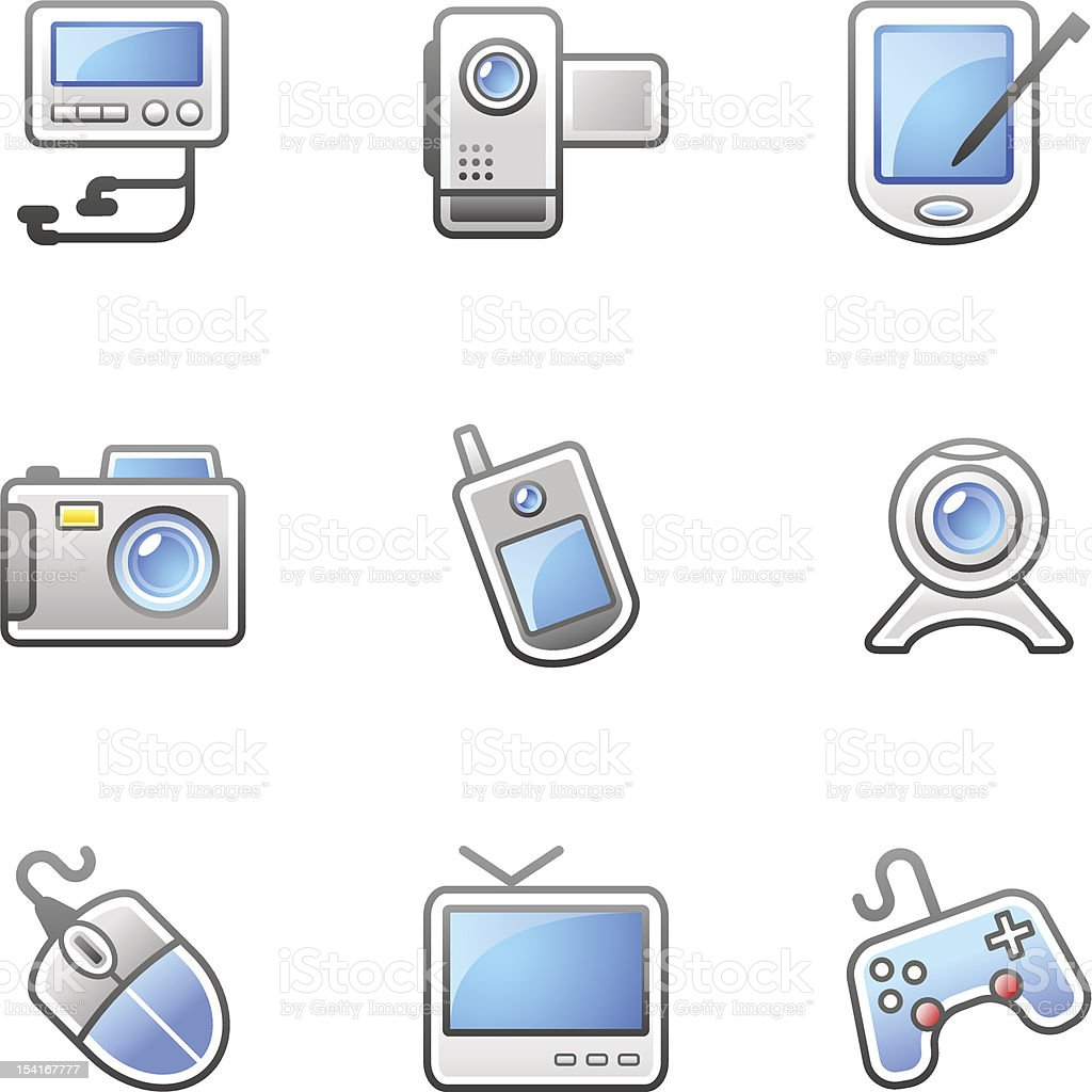 'IGO' Icon Series - Multimedia/Electronic royalty-free stock vector art