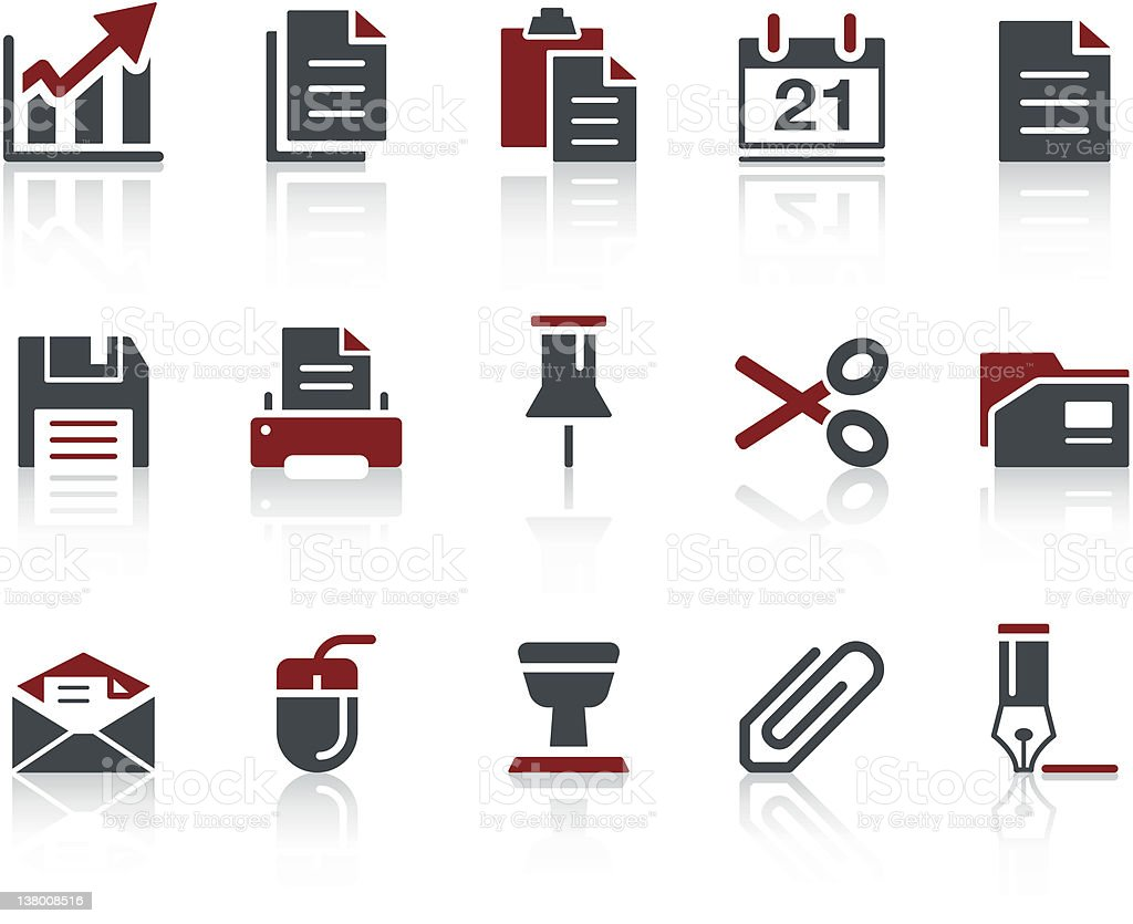COPO Icon Series - Office royalty-free stock vector art