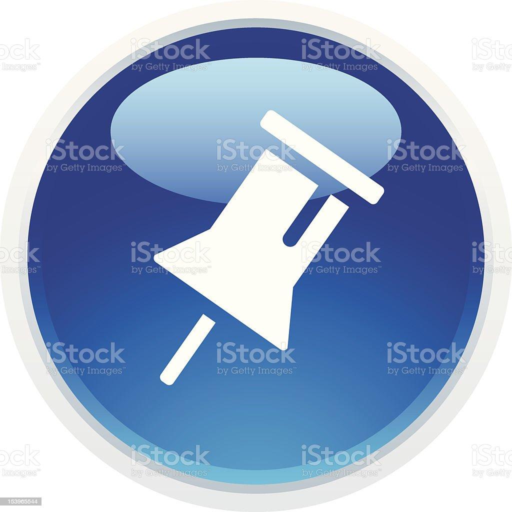 'BLUCO' Icon Series | Push Pin royalty-free stock vector art