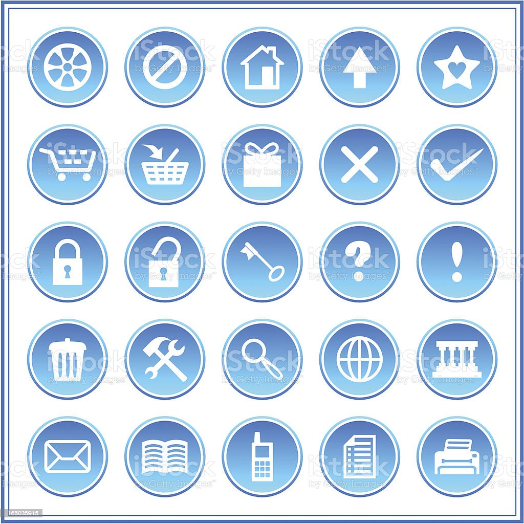 Icon set 006 royalty-free stock vector art