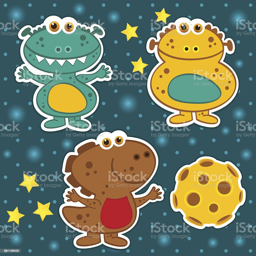 icon set alien royalty-free stock vector art