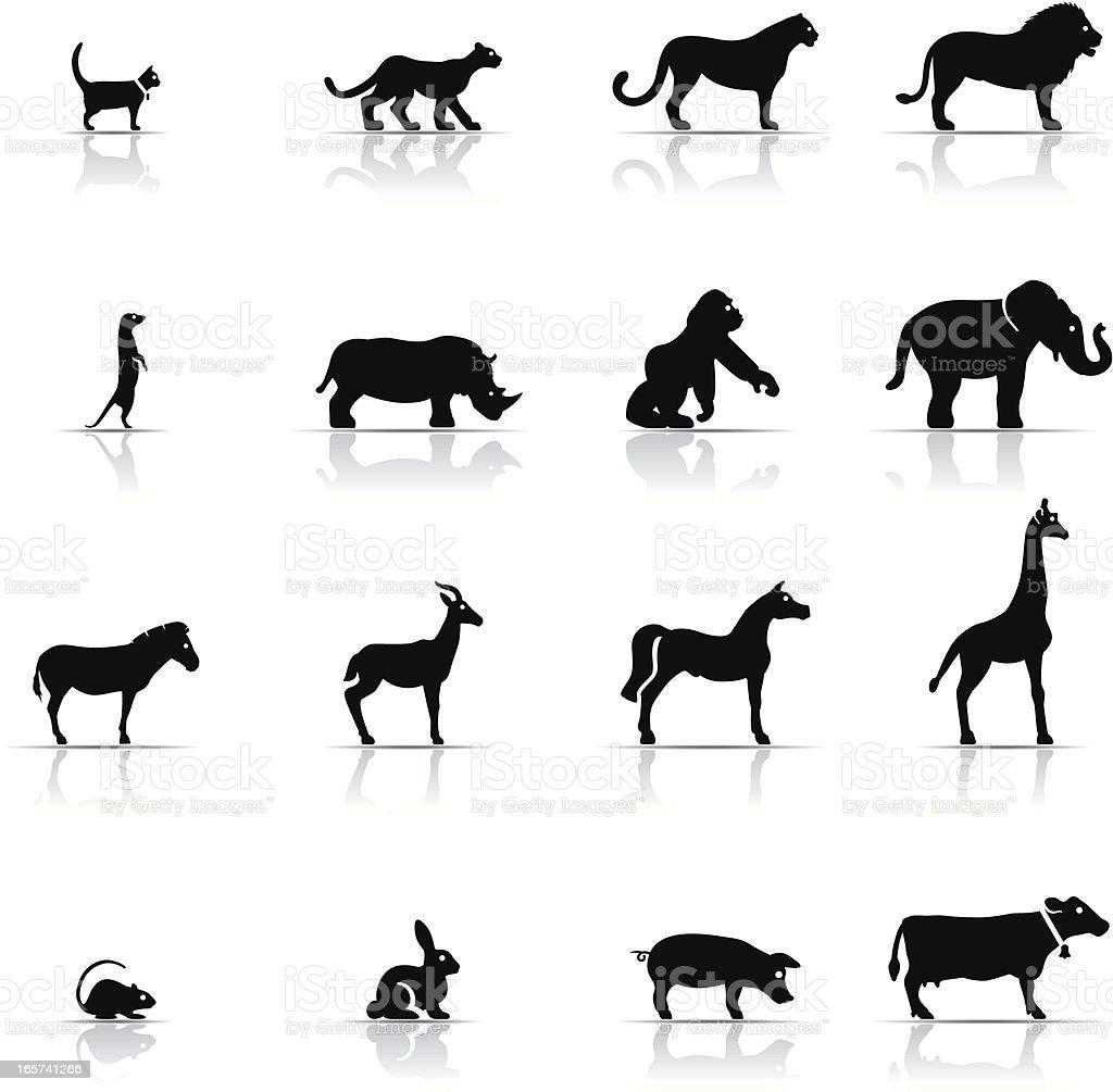 Icon Set, Animals vector art illustration
