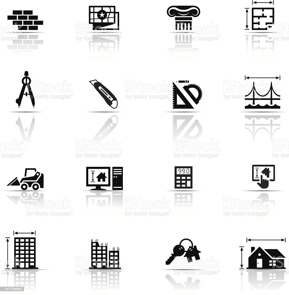 Icon set architecture stock vector art 457728583 istock for Architecture icon