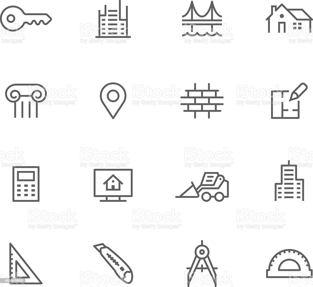Icon Set, Architecture vector art illustration