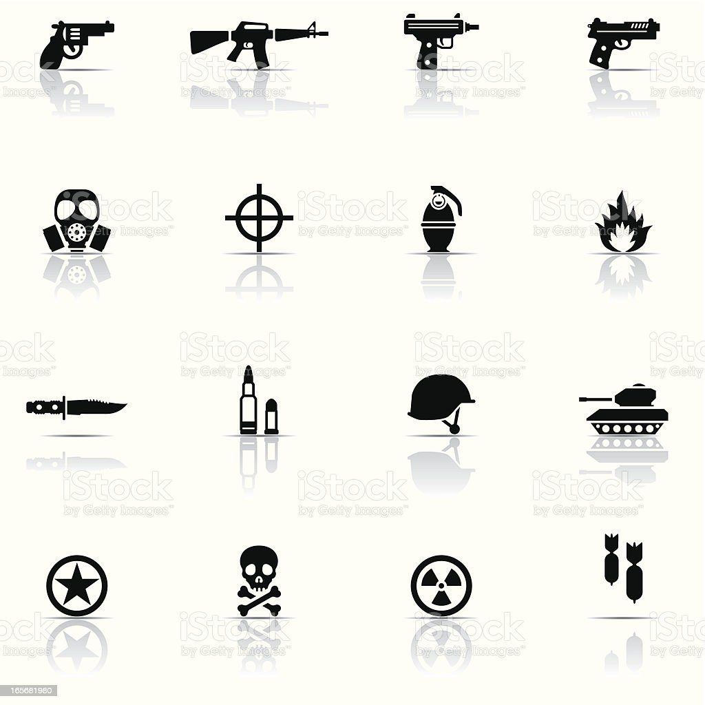 Icon set, Army vector art illustration