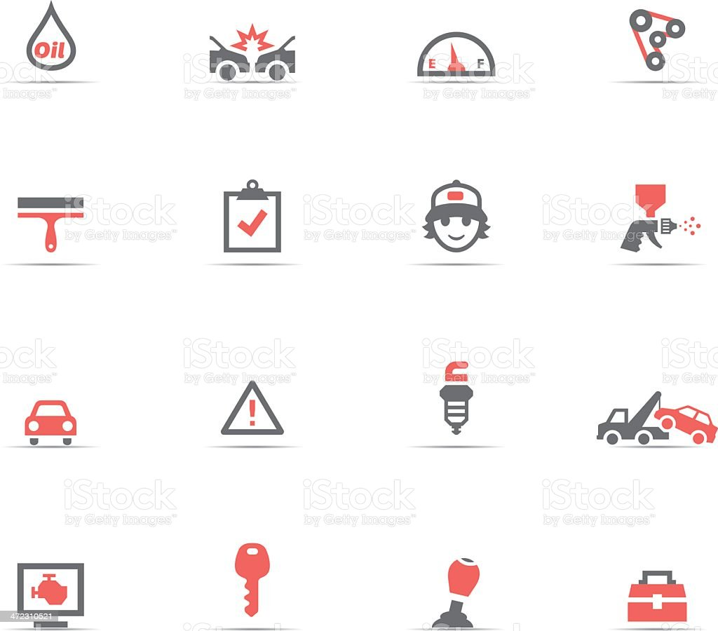 Icon Set, Auto Service vector art illustration