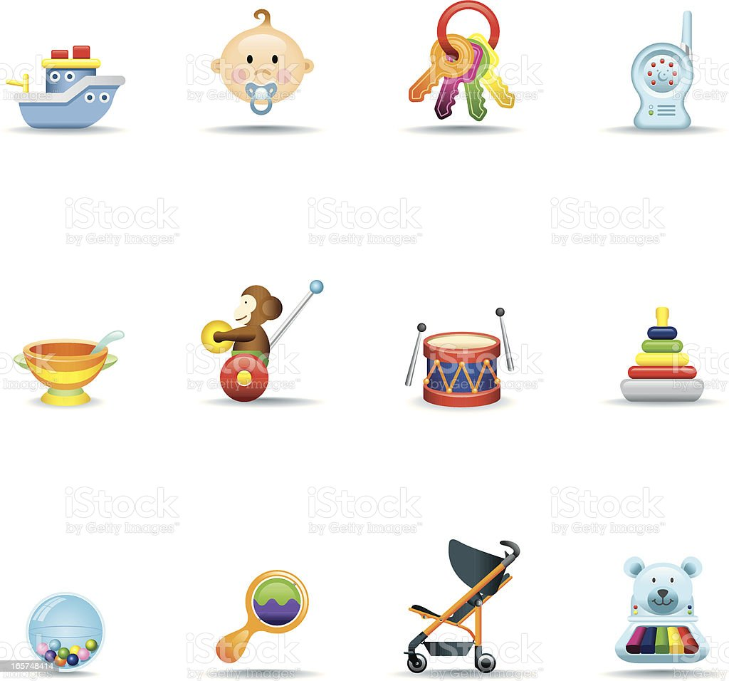 Icon Set, Babies royalty-free stock vector art