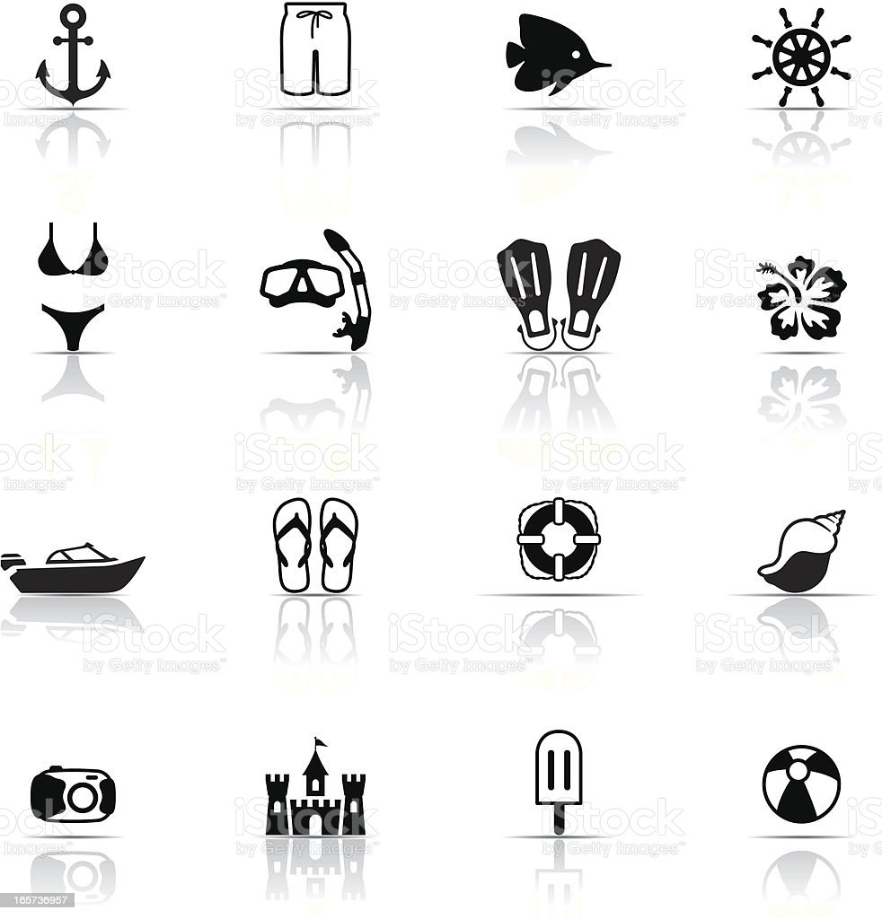 Icon Set, Beach and vacations royalty-free stock vector art