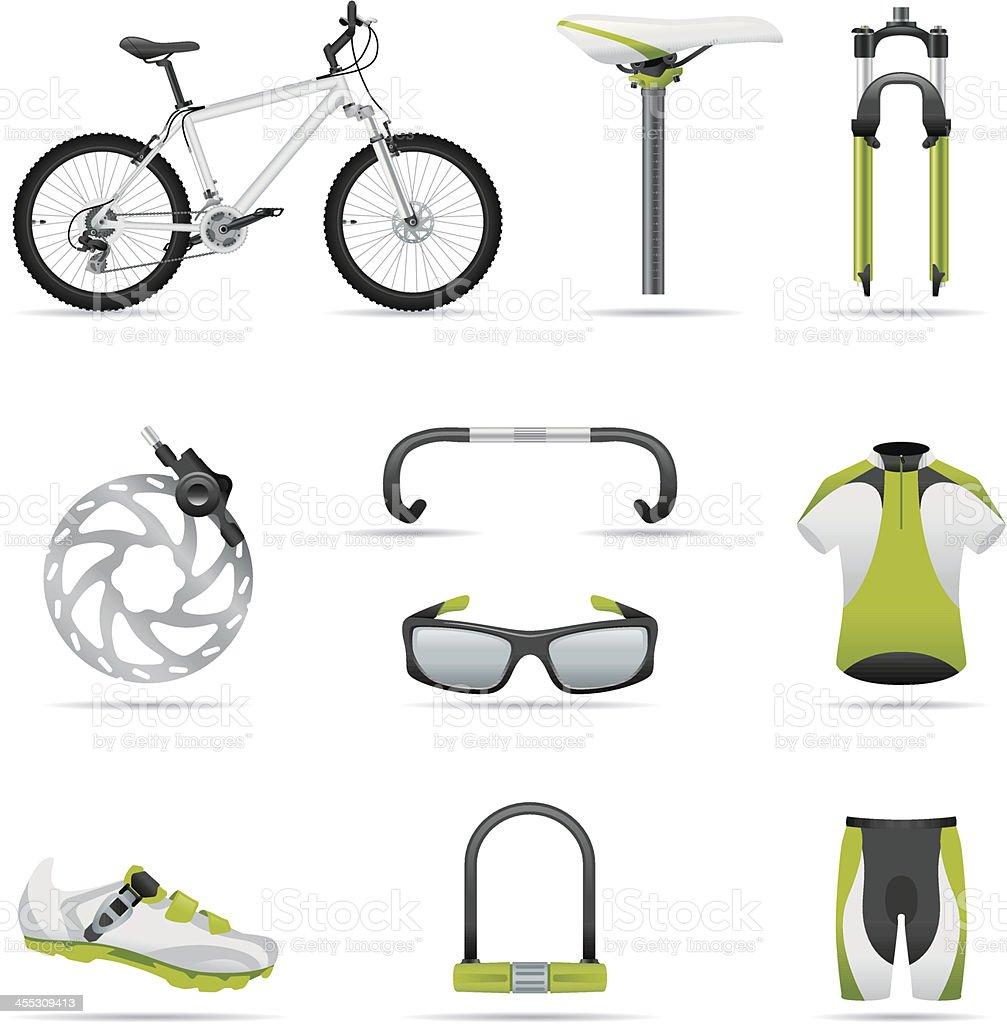 Icon set, bike 01 (great detail) vector art illustration