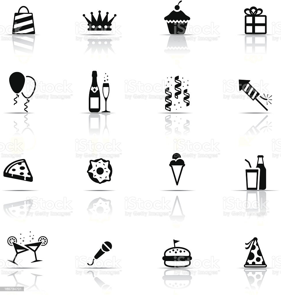 Icon Set, Birthday and celebrations royalty-free stock vector art