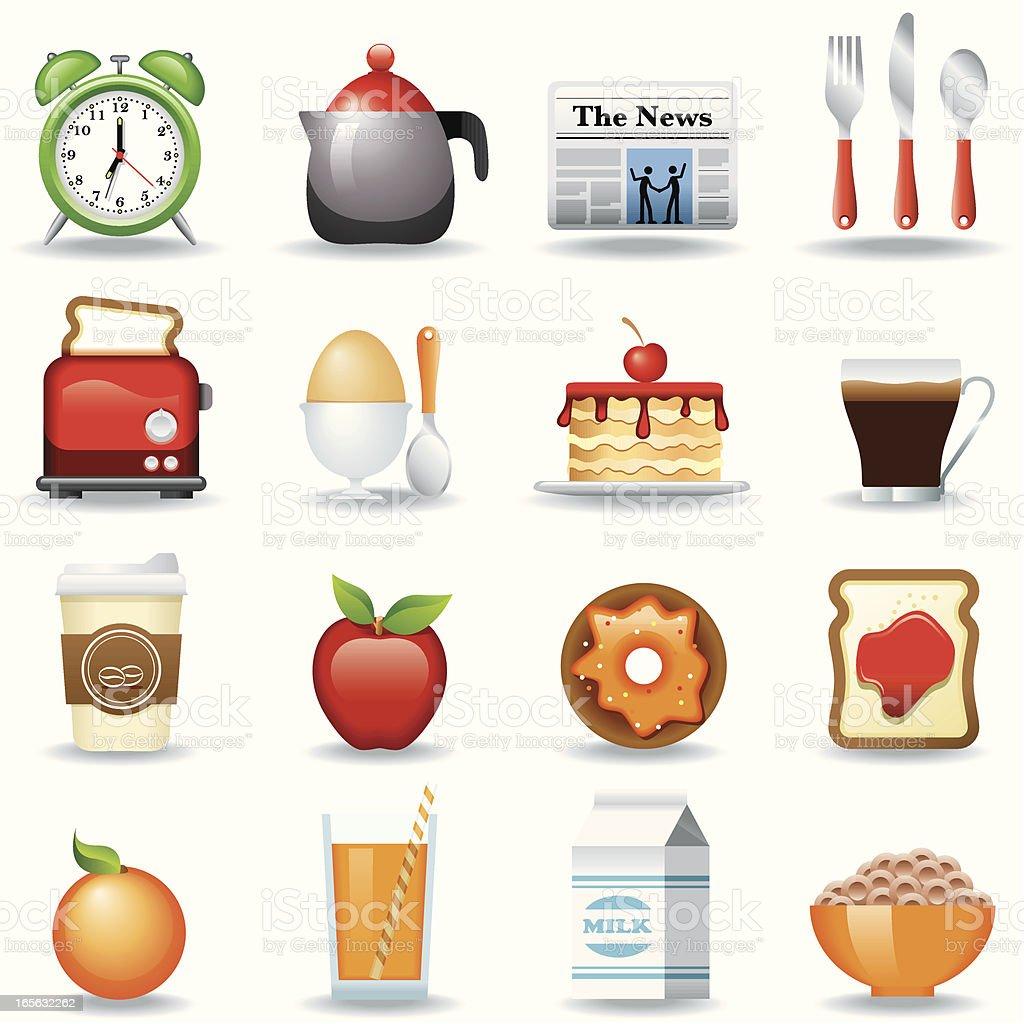 Icon Set, Breakfast vector art illustration