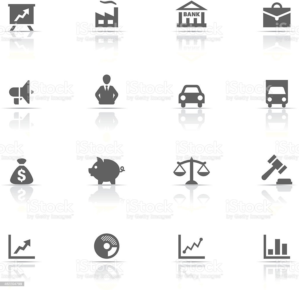 Icon Set, business vector art illustration
