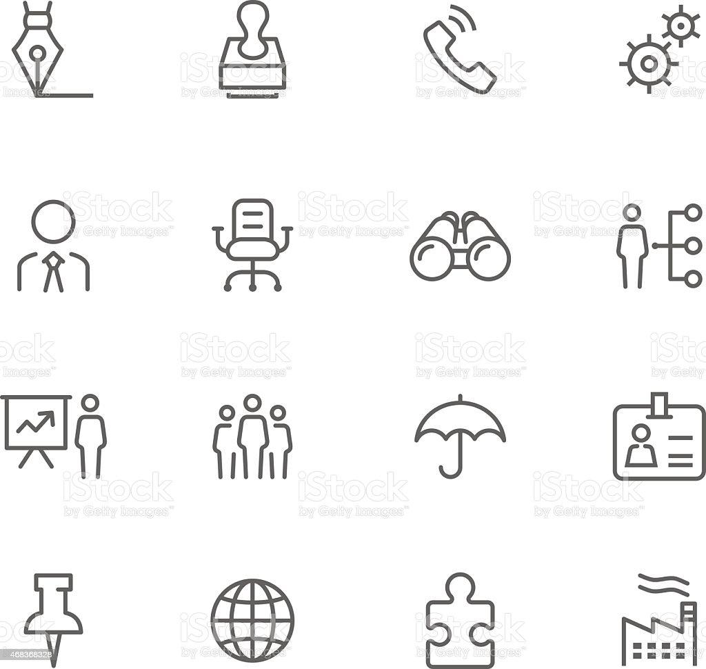 Icon Set, Business vector art illustration
