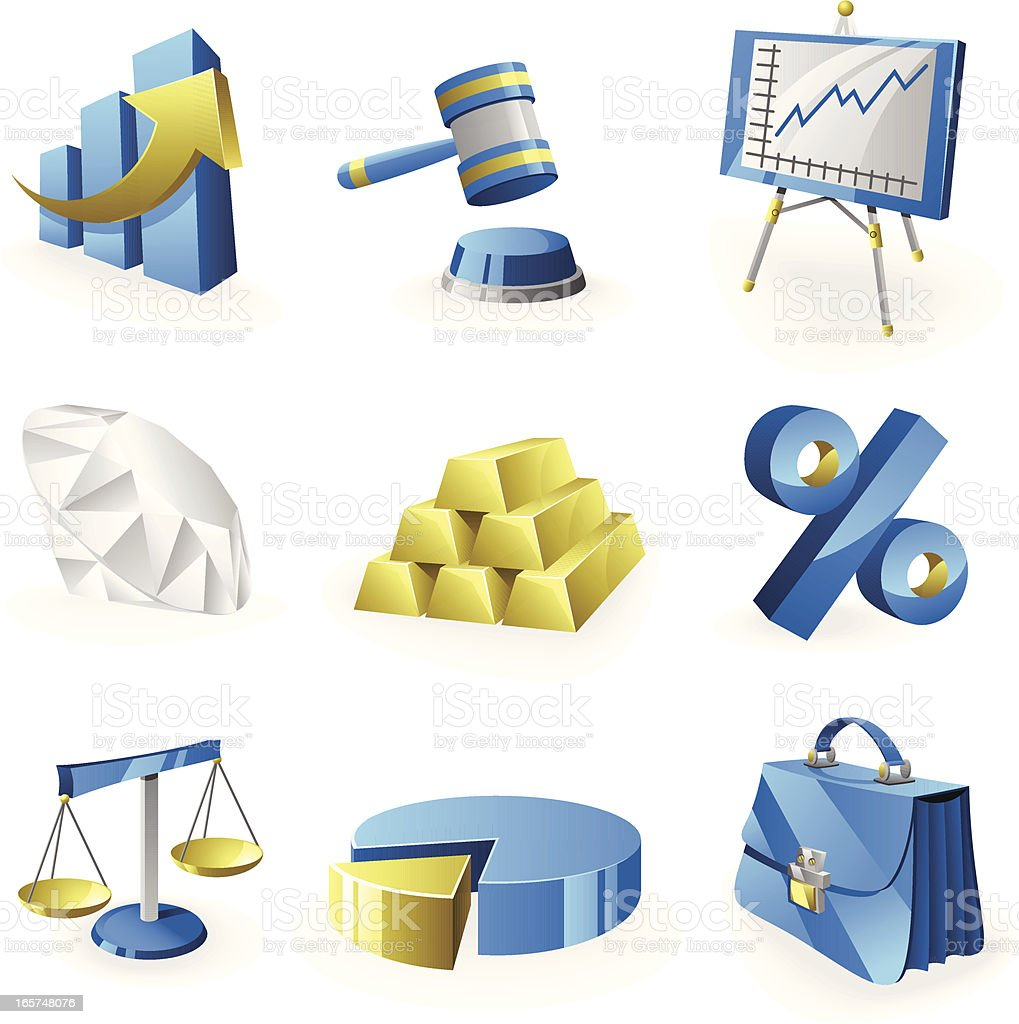 Icon Set - Business/Finance royalty-free stock vector art