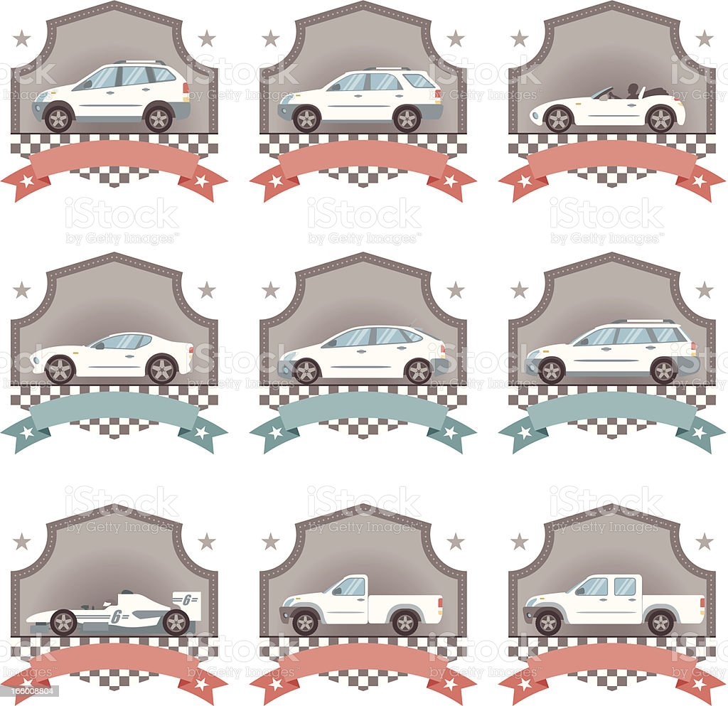 Icon Set, Car Concepts vector art illustration