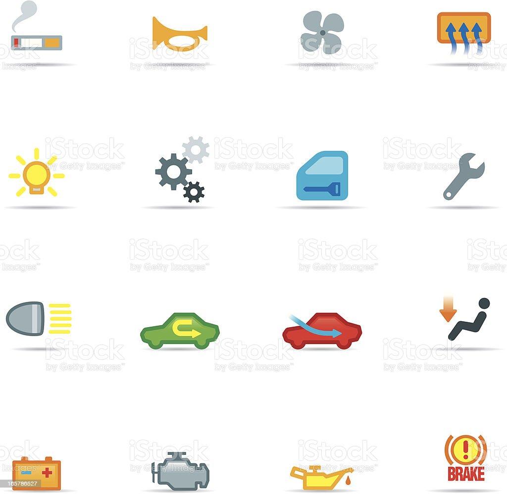Icon Set, car symbols Color royalty-free stock vector art