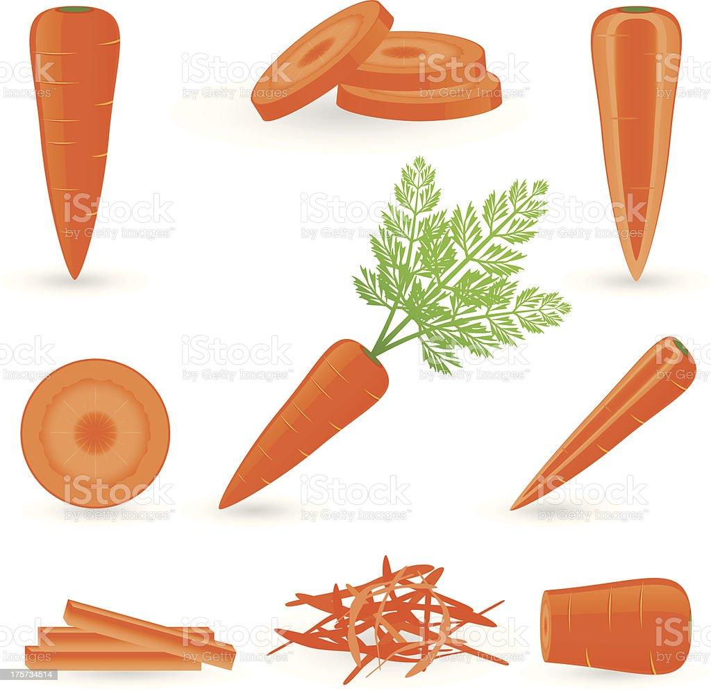 Icon Set Carrot vector art illustration