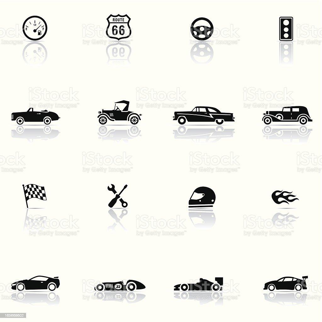Icon set, Cars and Mechanics vector art illustration