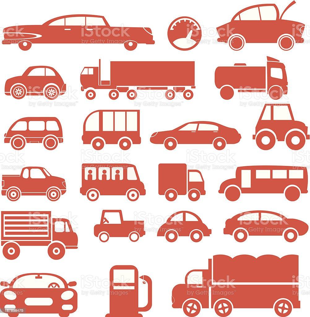 Icon set. Cars royalty-free stock vector art
