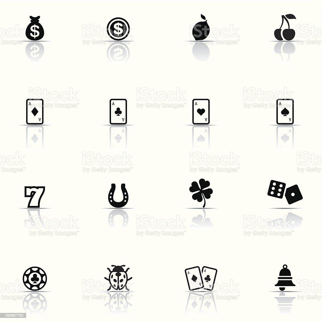 Icon set, Casino and Gambling royalty-free stock vector art