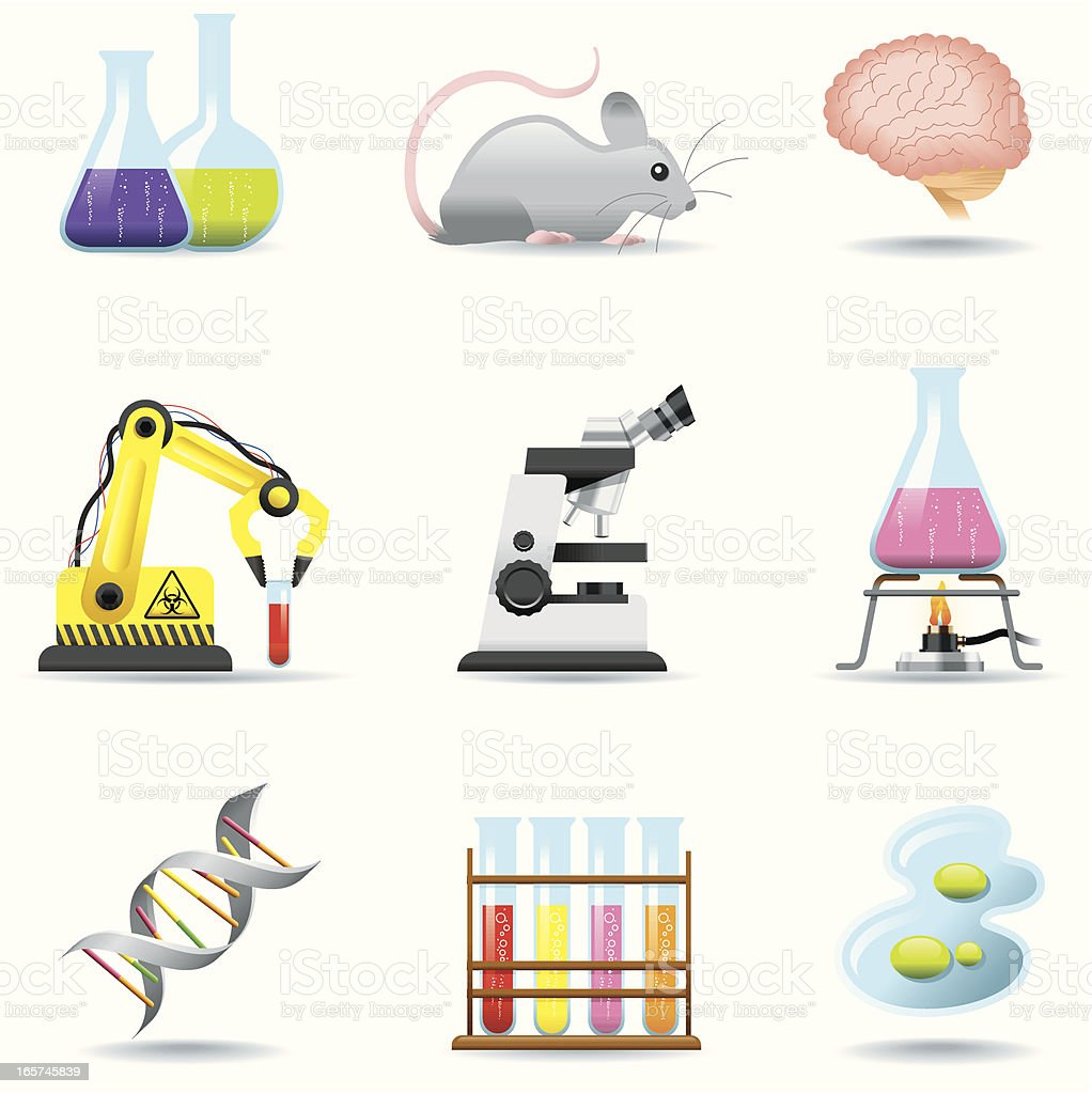 Icon Set, Chemistry and Science vector art illustration