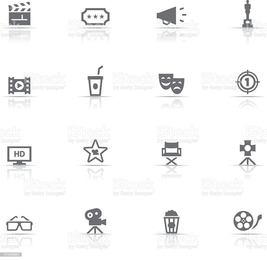 Icon Set, Cinema vector art illustration