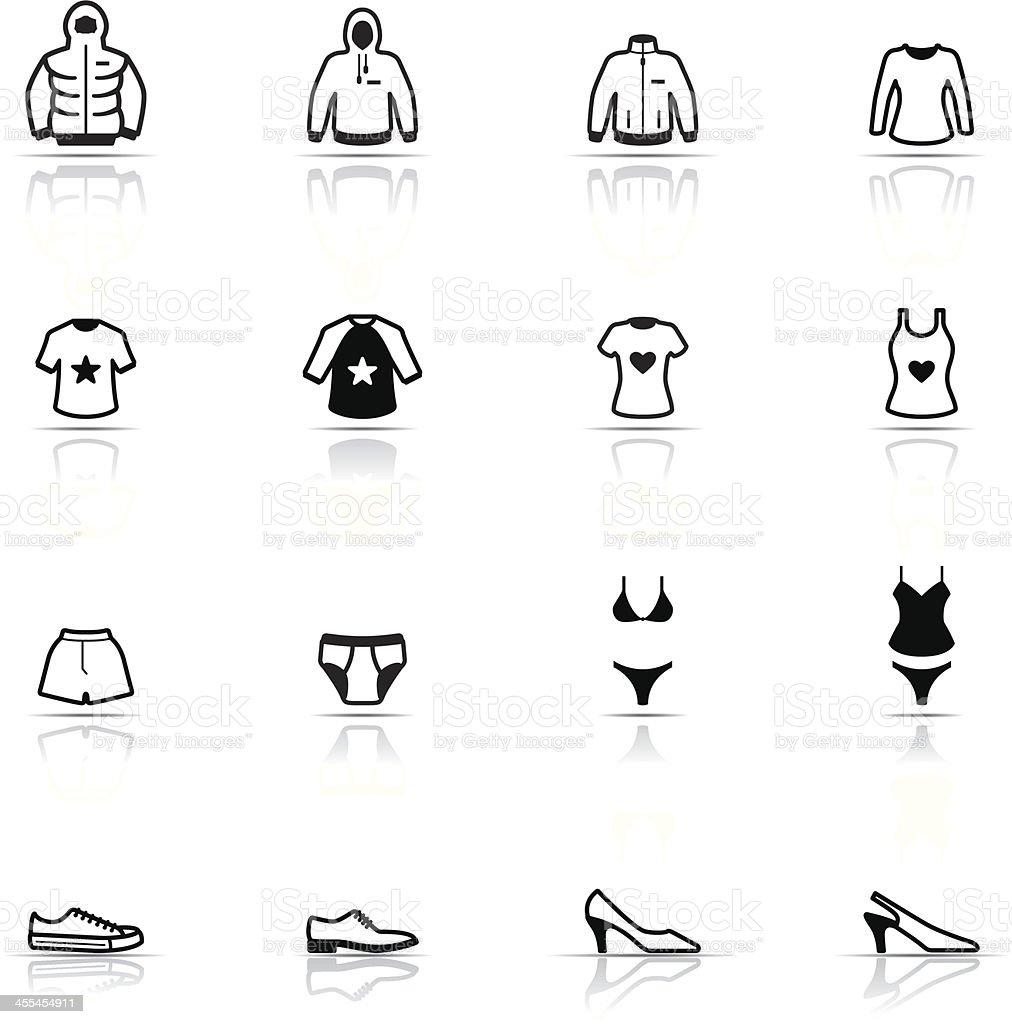 Icon Set, Clothes vector art illustration