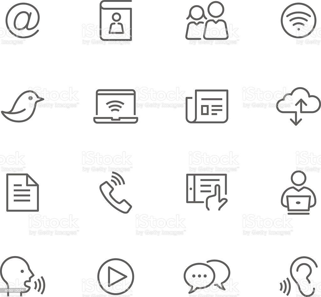 Icon Set, Communication vector art illustration