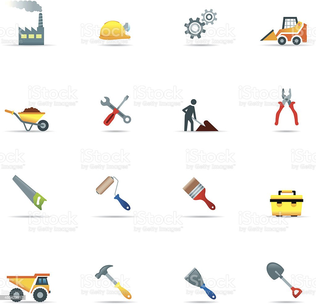 Icon set, Construction Color royalty-free stock vector art