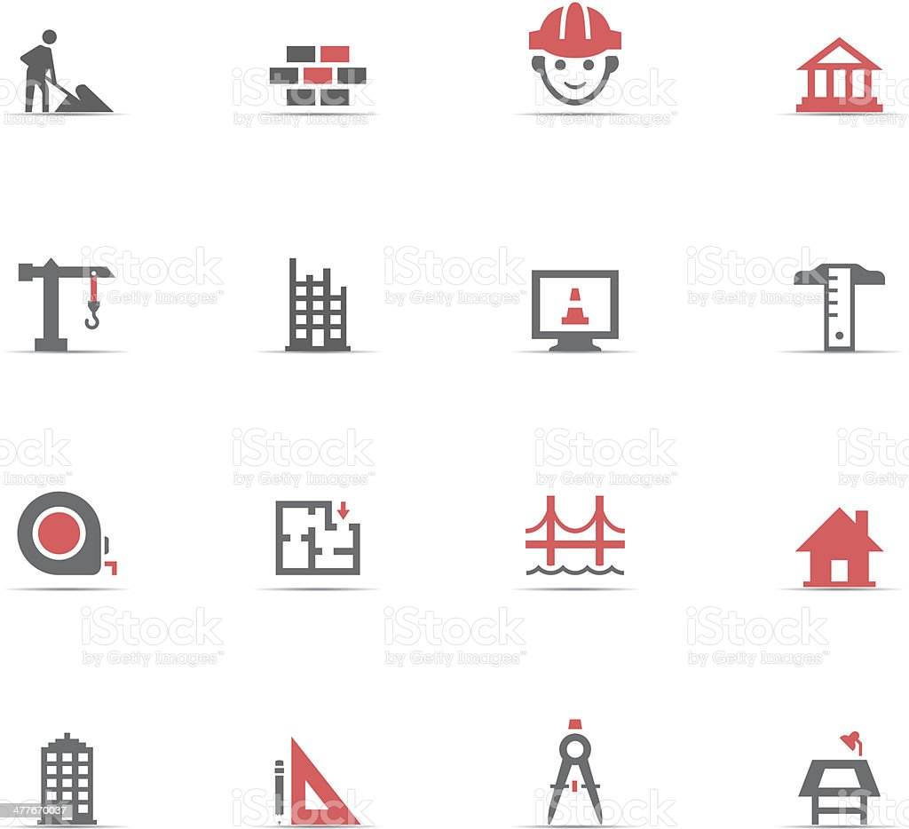 Icon Set, Construction vector art illustration