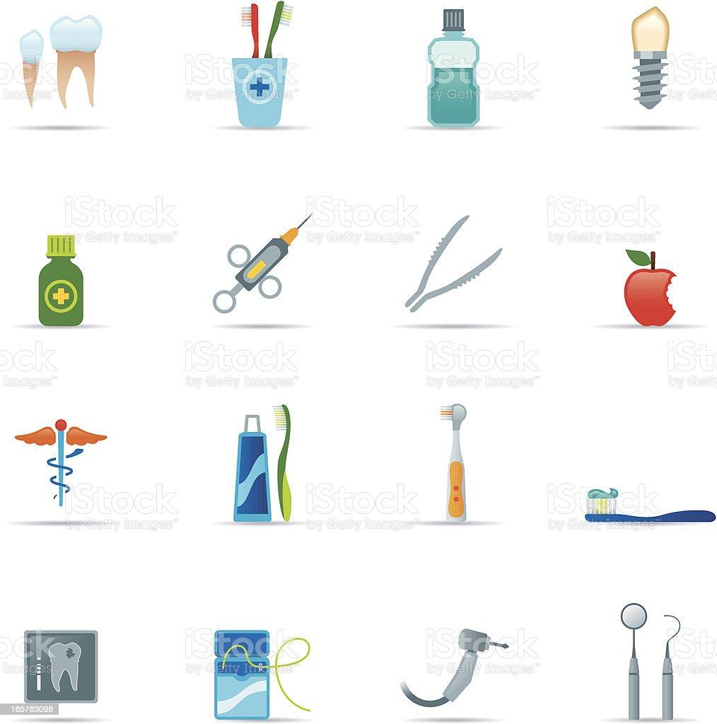 Icon Set, Dental Equipment Color royalty-free stock vector art