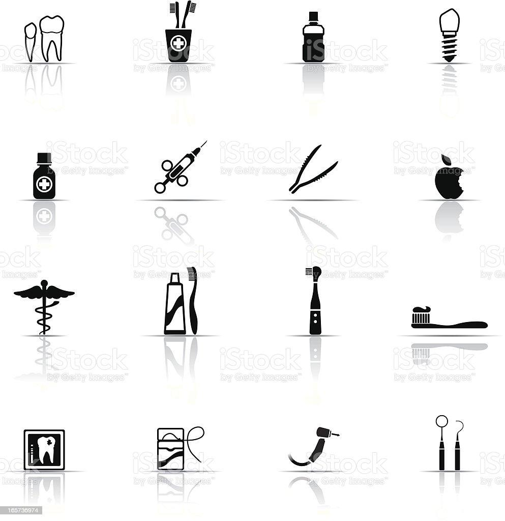 Icon Set, Dental Equipment royalty-free stock vector art