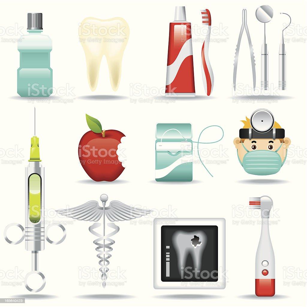 Icon Set, Dentist royalty-free stock vector art