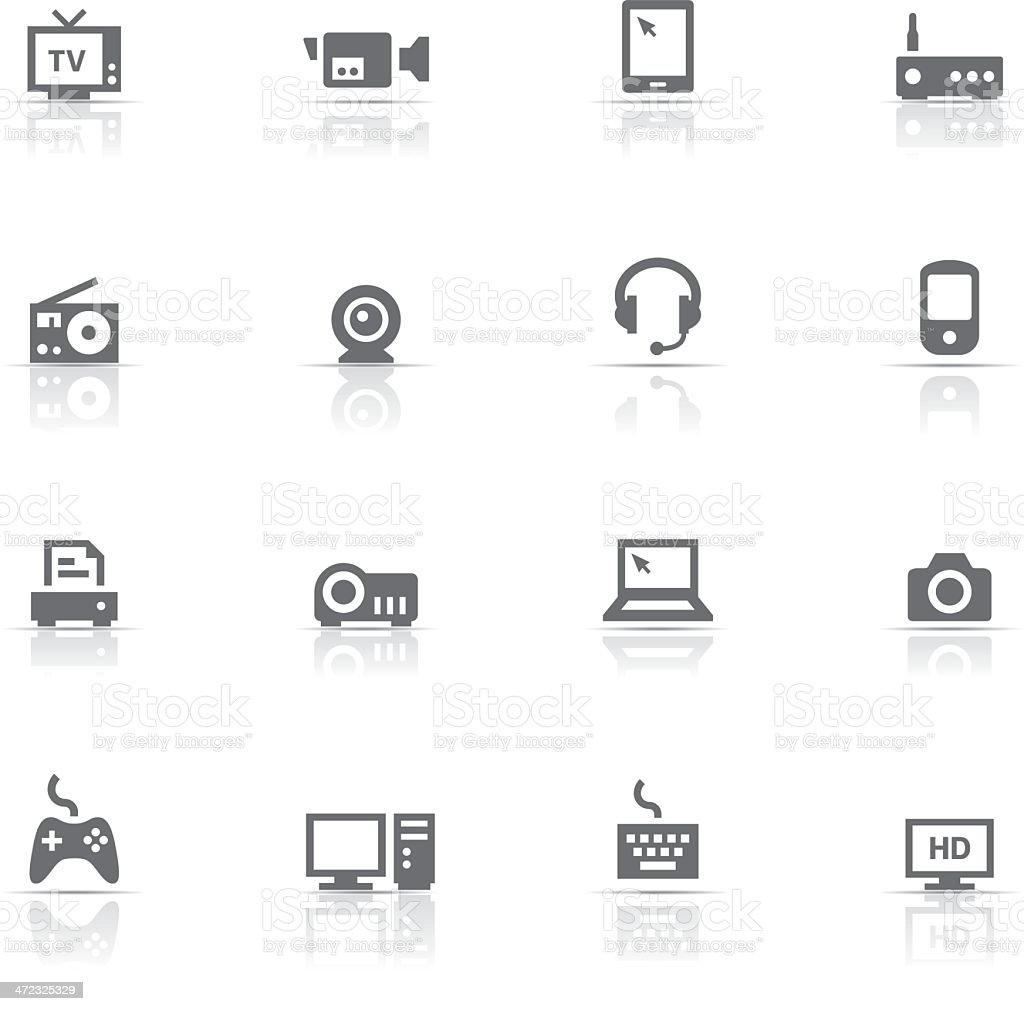 Icon Set, devices royalty-free stock vector art