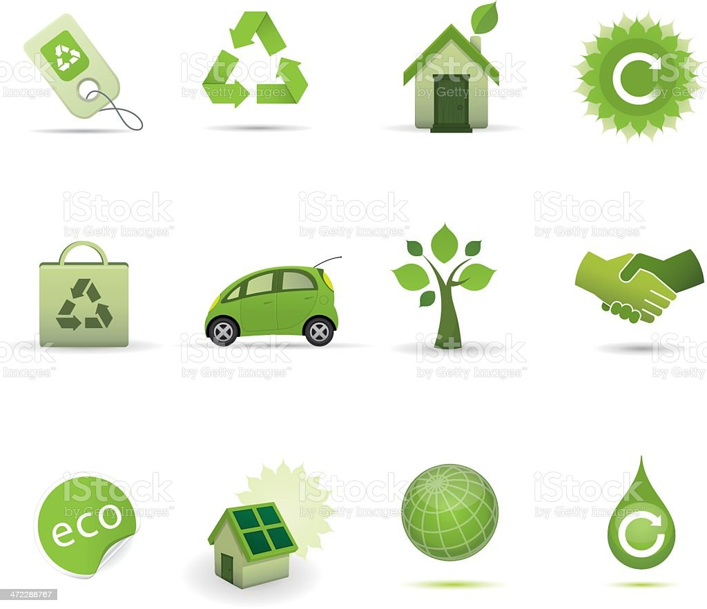 Icon Set - Eco Green royalty-free stock vector art
