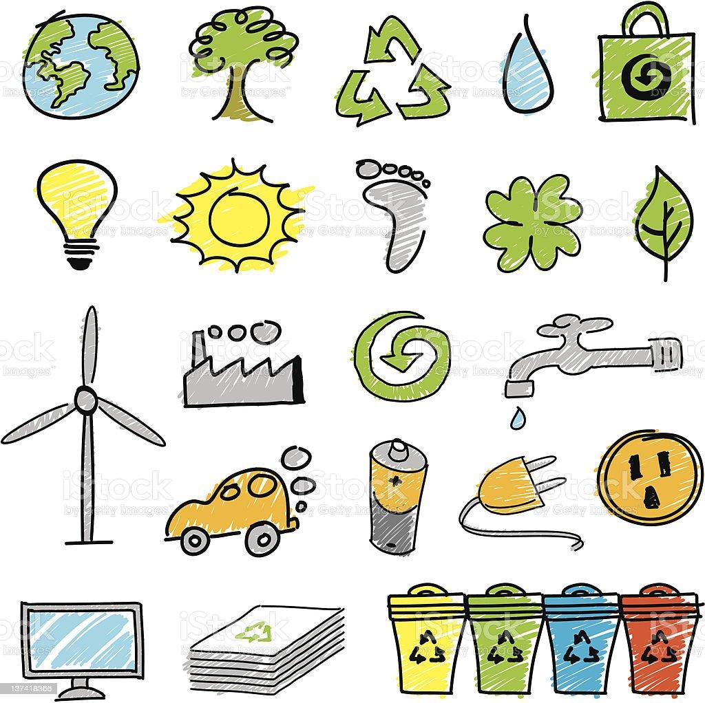 Icon Set Ecology royalty-free stock vector art