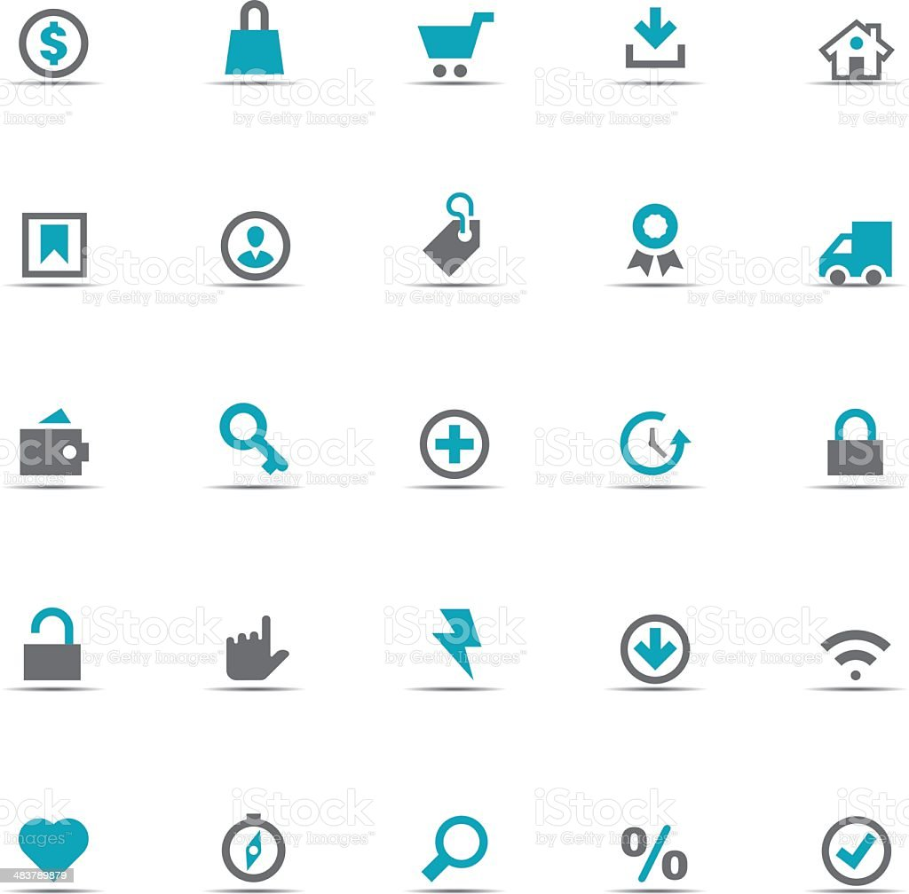 Icon Set, eCommerce royalty-free stock vector art