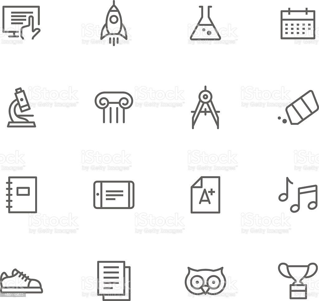 Icon Set, Education vector art illustration