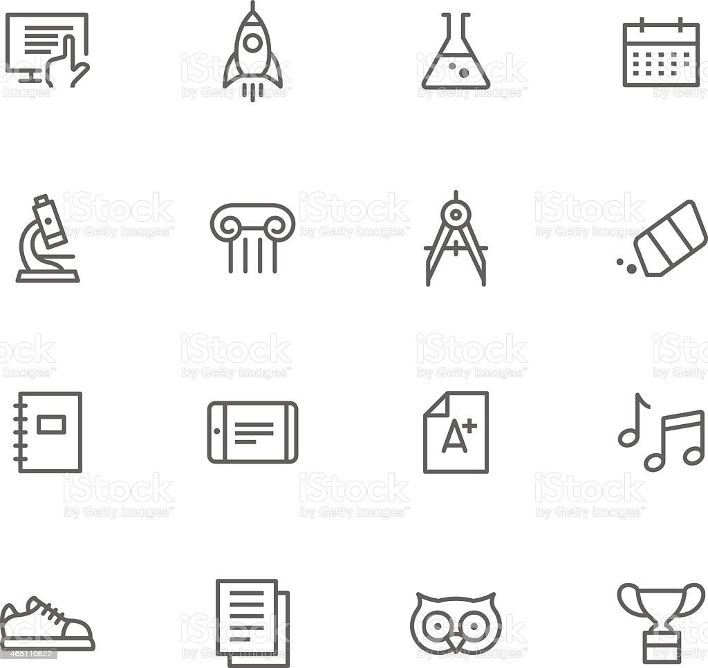 Icon Set, Education vector art illustration
